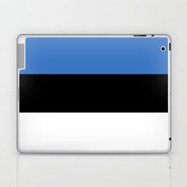 Flag of Estonia - Estonian,Eest,Baltic,Finnic,Sami, Skype,Arvo Part,Tallinn,Tartu, Narva,Snow, Cold Laptop & iPad Skin