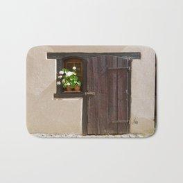 Old Wooden Door and Window Bath Mat