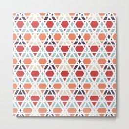 Seamless vector geometric color pattern Metal Print