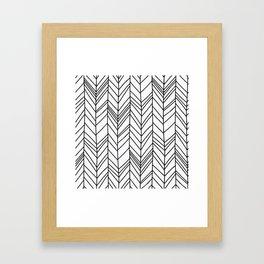 D. Shape of Branch Framed Art Print