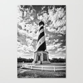 B&W - Cape Hatteras Lighthouse, Outer Banks NC Canvas Print
