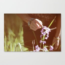 you belong among the wildflowers. Canvas Print