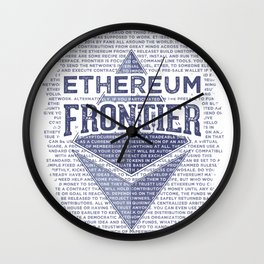 Ethereum Frontier Grunge original Wall Clock