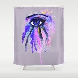 Blue eye splashing Shower Curtain