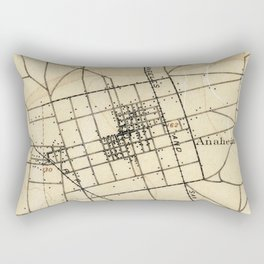 Vintage Map of Anaheim California (1894) Rectangular Pillow