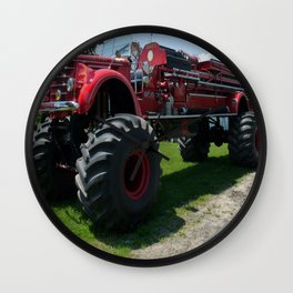 Real Big Fire Truck Wall Clock