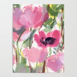 Pink Poppy Graphic Poster