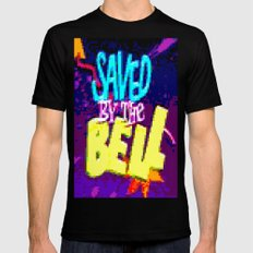 Saved By The Bell Black SMALL Mens Fitted Tee