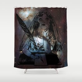 Galaxy Gypsy Writing a Letter to the Cosmos Shower Curtain