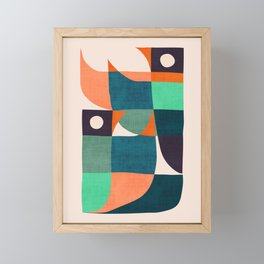 Two birds dancing Framed Mini Art Print