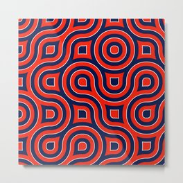Red Deep blue spirale Metal Print