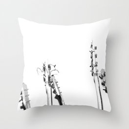 The Guitars (Black and White) Throw Pillow