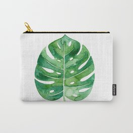 Philodendron Leaf Watercolor Carry-All Pouch