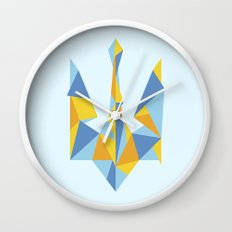 Ukraine Geometry Wall Clock