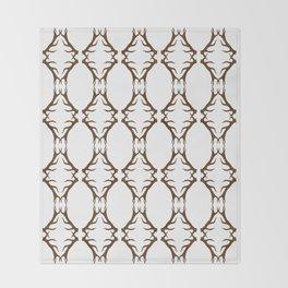 Modern Antler:  Brown Throw Blanket