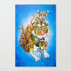 Harbaugh's Tiger & Cub Canvas Print