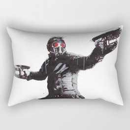 Star-Lord (Peter Quill) Guardians Graffiti Pop Urban Street Art Rectangular Pillow