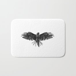 Black Bird White Sky Bath Mat