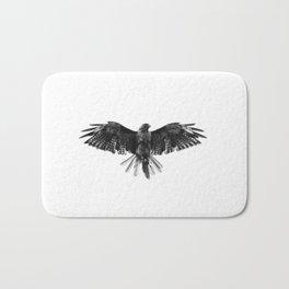 Black Bird White Sky Bath Mat