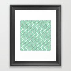 Chain Link on Mint Framed Art Print