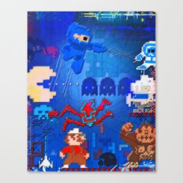 Retro Collective Canvas Print