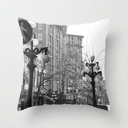 historic gastown  Throw Pillow