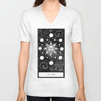 tarot V-neck T-shirts featuring Star Tarot by Corinne Elyse