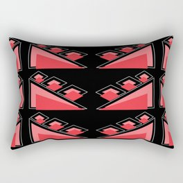 Traingle Pattern(Pink and Black) Rectangular Pillow