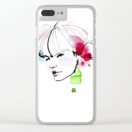 bloomy March Clear iPhone Case