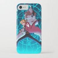 full metal alchemist iPhone & iPod Cases featuring Full Metal Alchemist by chaichino