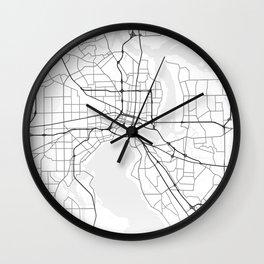 Jacksonville street map Wall Clock