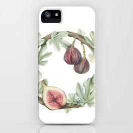 Fig Wreath iPhone Case