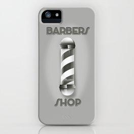 Barbers Shop Pole iPhone Case