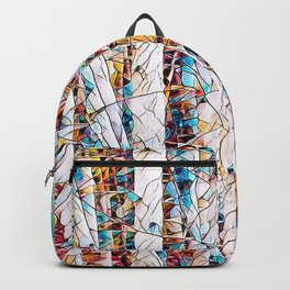 Bare trees colorful abstract pattern Backpack