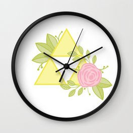 Garden of Power, Wisdom and Courage Wall Clock