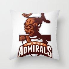 Mon Calamari Admirals Throw Pillow