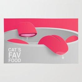 Cat´s Fav Food Rug