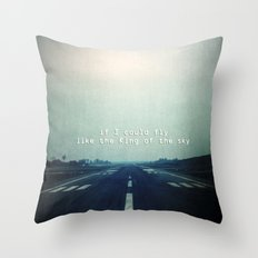 If I could fly Throw Pillow