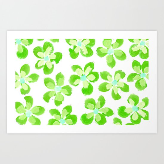 Posey Power - Electric Lime Multi Art Print