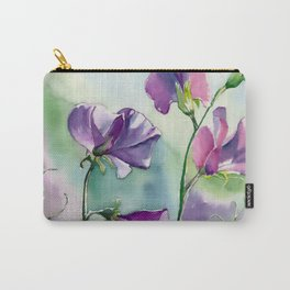 Sweet Pea Watercolour Painting Carry-All Pouch