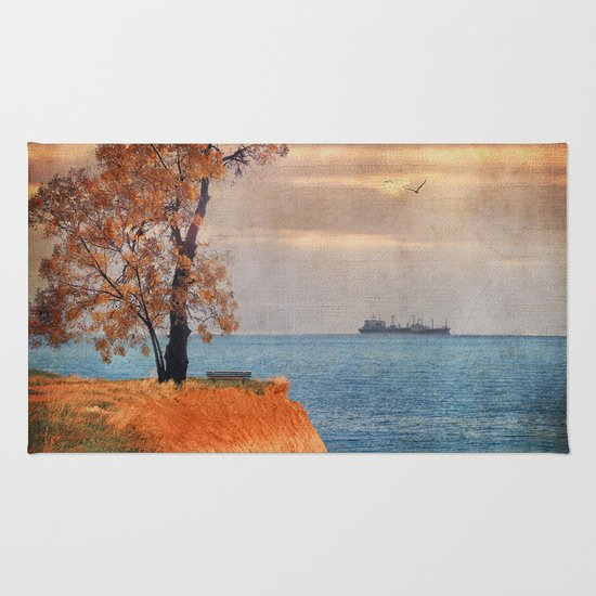 Autumn by the sea Rug