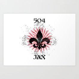 504 JAX - NOLA Burst Art Print