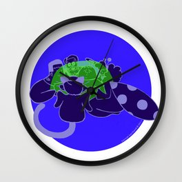 The Halloween Party - Blacklight Wall Clock