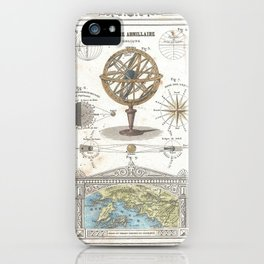 Uranographic and Cosmographic Chart (1852) iPhone Case