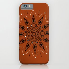 Central Mandala Curry iPhone Case