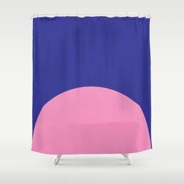 Blue Rising Shower Curtain