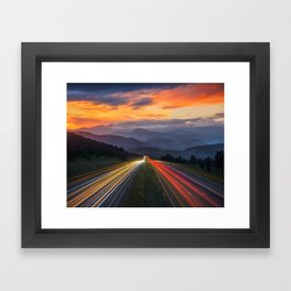 I-70 Traffic Framed Art Print