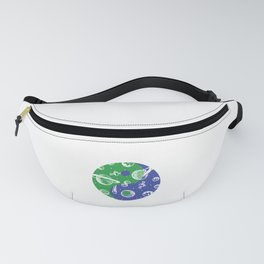 Yin Yang Planer Universe Galaxy Astronaut Space Gift Fanny Pack