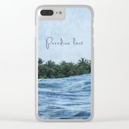 Paradise lost Clear iPhone Case