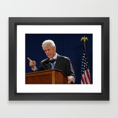 Bill Clinton Framed Art Print